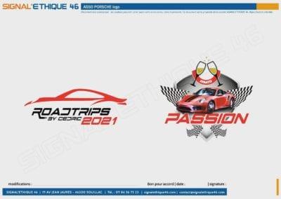 Conception de logo pour une association Porsche