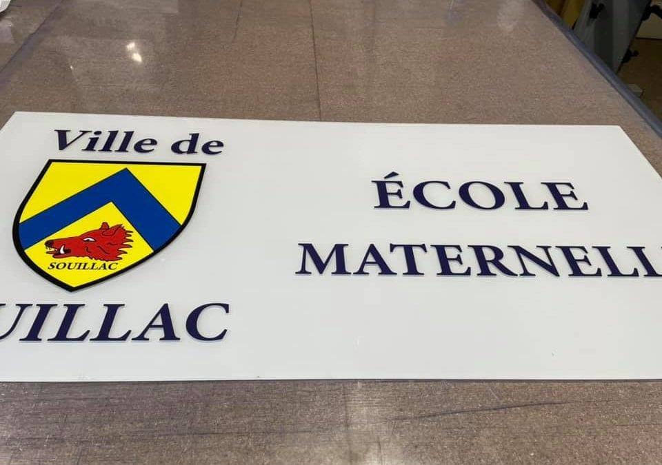 Panneau École Maternelle