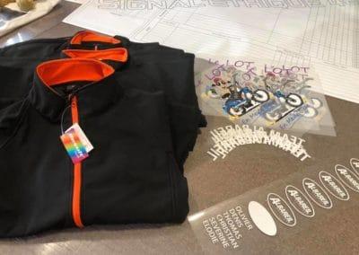 Flocage de textiles fournis par nos soins
