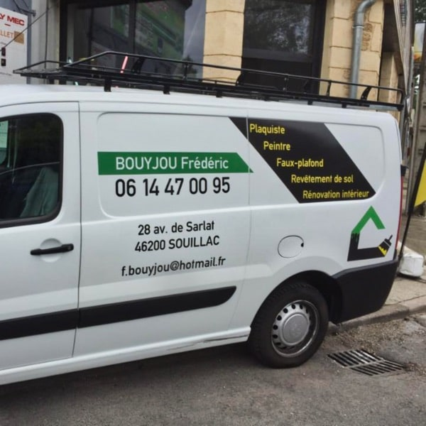 Marquage Véhicule Entreprise Bouyjou