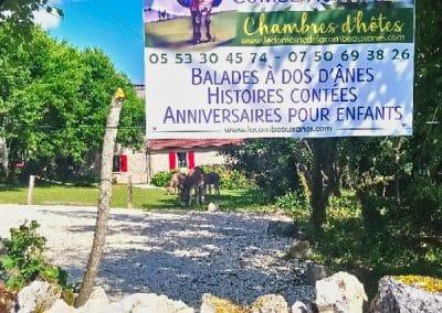 Panneau du Domaine de la Combe aux Anes