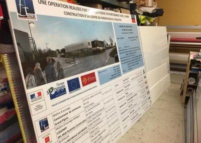 Panneau de chantier alvéolaires ou PVC ou alu composite
