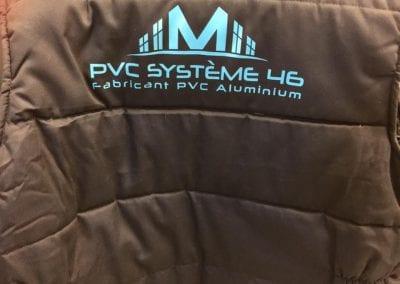 Marquage blouson PVC Système 46