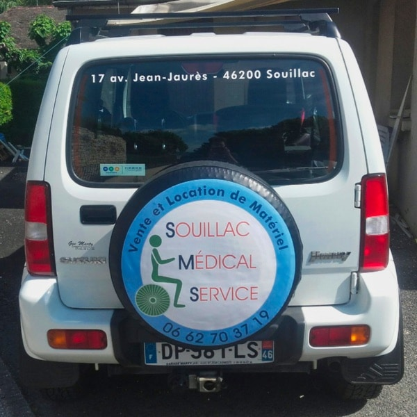Marquage véhicule Souillac Médical Service